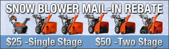 Husqvarna Snow Thrower Rebates: Mail-In Rebates on Qualifying Equipment Purchases
