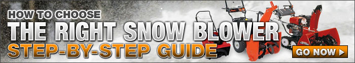How to choose the right snow blower step by step guide