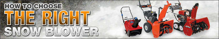 how to choose a snowblower