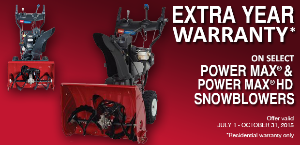 Extended Warranty Toro PowerMax