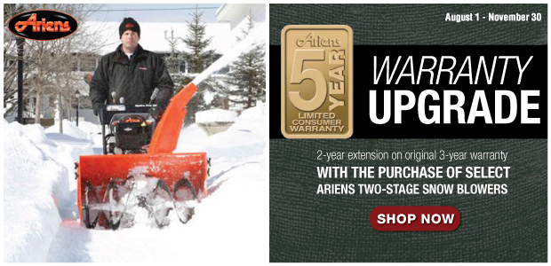 Ariens Snow Blower Warranty Extension